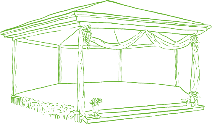 An illustration of the Rotunda at Summerland House Farm