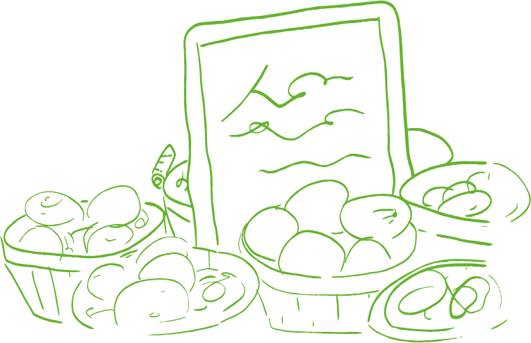 An illustration of fresh farm produce