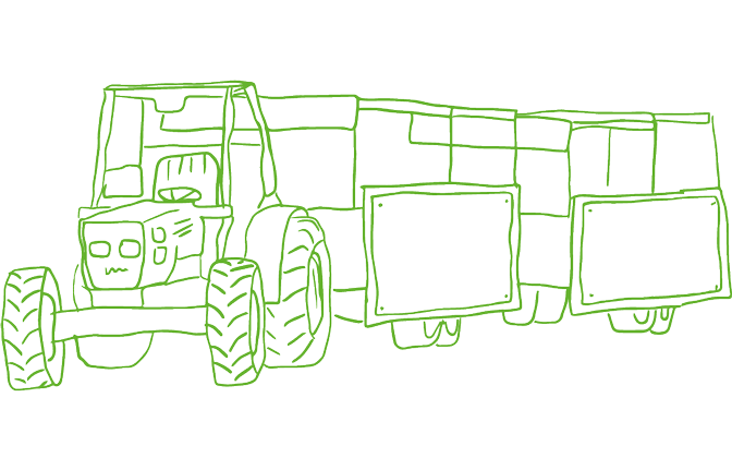An illustration of a tractor