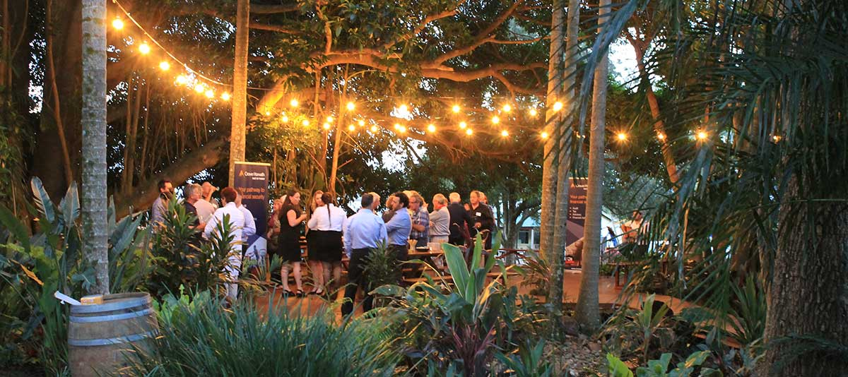 The Fig Tree Deck venue at dusk