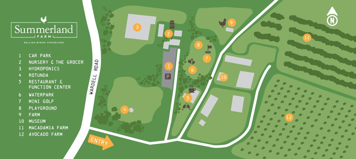 A map of Summerland Farm